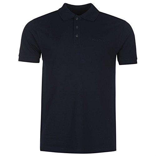 Lässige Cotton Polo Shirt (Pierre Cardin Herren Einfarbig Polo Poloshirt T Shirt Kurzarm Kragen Tee Top XXXL)