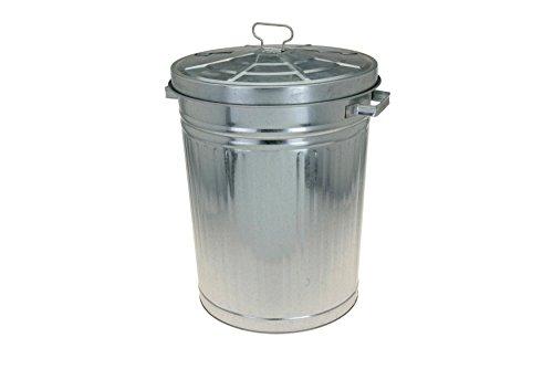 Cubo de basura de tamaño XXL, en zinc, 55litros