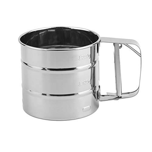Hand Backen Kuchen Werkzeug Edelstahl Mechanische Backen Puderzucker Shaker Sieb Tasse Mesh Pulver Mehl Sieb Zubehör