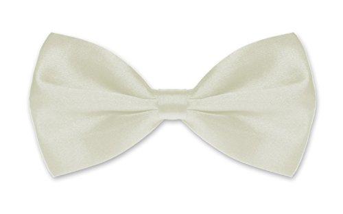 Autiga ® Fliege Herren Hochzeit Konfirmation Anzug Smoking Schleife Schlips verstellbar elfenbein