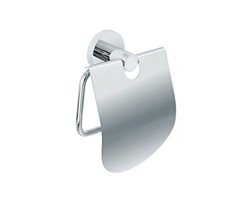 Nicol EOS WC Wand-Rollenhalter mit Deckel aus verchromtem Messing Metall Chrom 8.2 x 13 x 15 cm