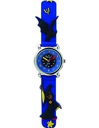 Trendy Kiddy - KL68 - Montre Mixte - Quartz Analogique - Cadran Bleu - Bracelet Plastique Bleu
