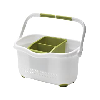 Addis Sink Caddy, White/Grass Green