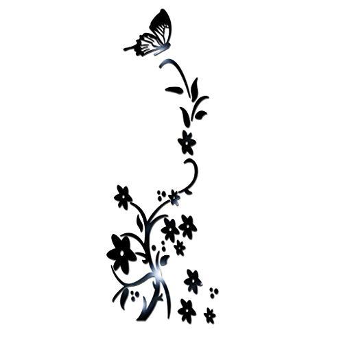 YWLINK 3D DIY Flor Forma De Mariposa AcríLico Etiqueta De La Pared...