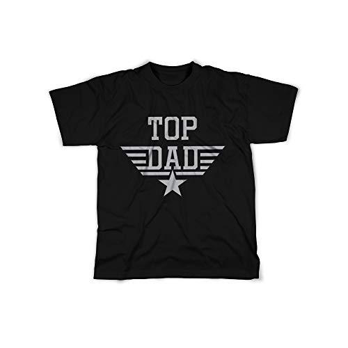 t mit Top Dad Lieutenant Aufdruck in Black Gr. XXXL Design Top Shirt Herren Basic 100% Baumwolle Kurzarm ()
