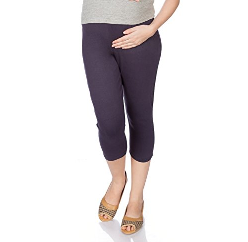 Goldstroms Women's Maternity Capri (Purple, Large)