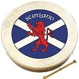 Walton's 8' Irish Bodhran & Beater - Scottish Flag Saltire Design