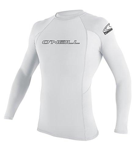 O'Neill Wetsuits Herren Basic Skins L/S Crew Rash Vest, White, XL -