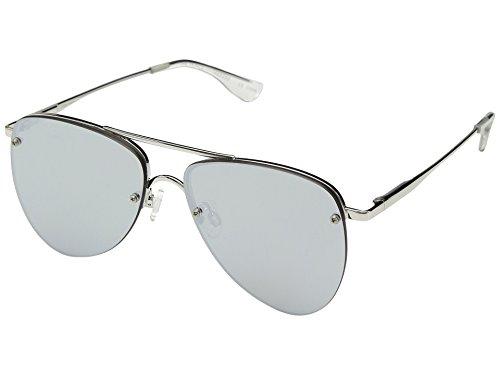 Le Specs die Prinzen-Sonnenbrille uni Silber