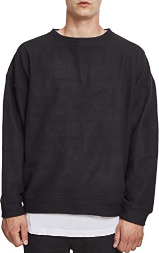 Urban Classics Herren Polar Fleece Crew Sweatshirt, Schwarz (Black 00007), M Classic Fleece