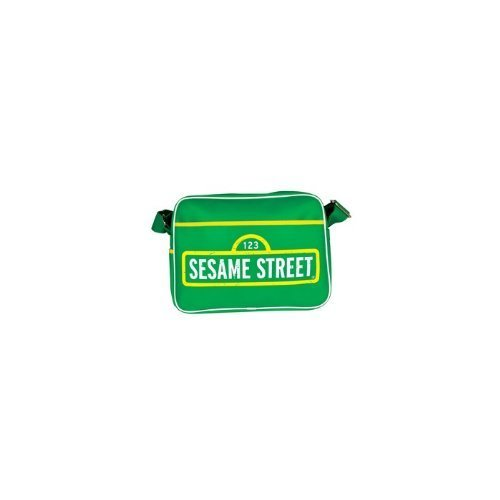 Sesame Street Green Retro Style Shoulder Bag / Sports Bag - Crackers Cookie