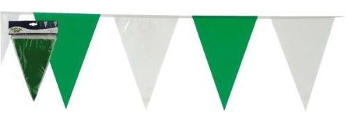 tib 14417 Wimpelgirlande mit 30 Flaggen, Farbe-grün-weiß, One Size
