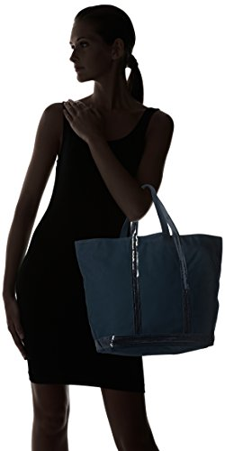 Vanessa Bruno Cabas Medium + -Coton et Paillettes, Cabas bleu(781 Pyrite)