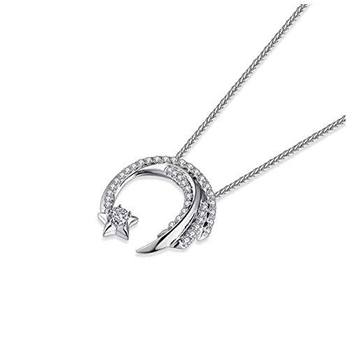 women S925 Sterling Silber Halskette Klavikularkette Meteor Garden den gleichen Absatz Fließende Sterne Halskette/A/Einheitsgröße