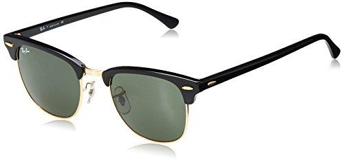 Ray-Ban Unisex-Erwachsene 0RB3016 901/58 51 Sonnenbrille, Black/Crystalgreenpolarized,