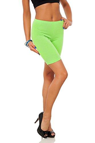 futuro fashion Leggings coton 1/2 longueur sur-genou Short actif Sport Pantalon décontracté LK Citron Vert