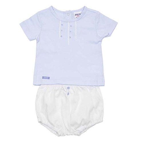 TOBOGAN - CONJUNTO YATSI 2 PIEZAS BEBE bebé-niños color: CELESTE talla: 6M