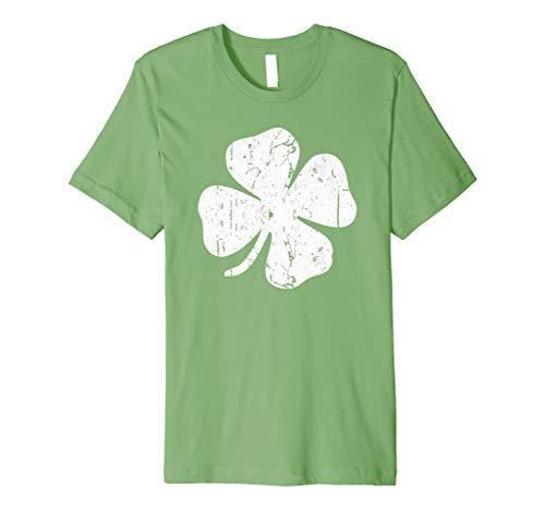 Four Leaf Clover T-Shirt Vintage Saint Patrick Tag -