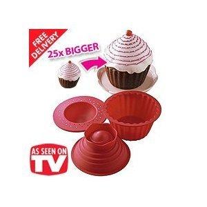 Sherwood - Silicio grande / gigante gigante superior cupcake muffin molde nuevo