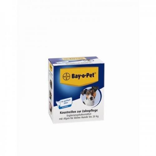 Bay·o·Pet Zahnpflege Kaustreifen mit Alge, kleiner Hund 140g, Hundesnack, Kauknochen
