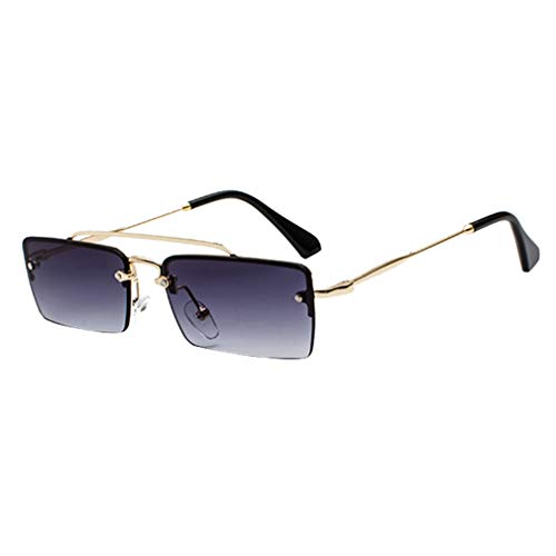 f2e9a25628 Yying Small Retro Shades Rectangle Gafas de sol Hombres Marco de Metal Gafas  de sol de