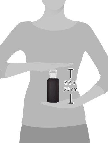 bkr Trinkflasche aus Glas 500ml - bkr bottle die Wasserflasche der Stars - das Beauty Essential! (JET)