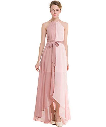 Kaxidy donna rosa vestito da sera lungo abbigliamento vestiti eleganti ragazza abito lungo vestito dalla spiaggia (medium)