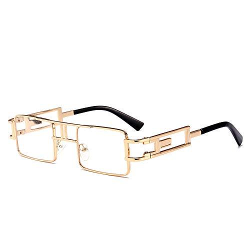 Metall Sonnenbrille Europa und Amerika Street Shooting Box Sonnenbrille Weißgold Rahmen