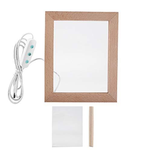 Boquite USB LED Fotorahmen Nachtlicht Dekoratives Geschenk(#3) -