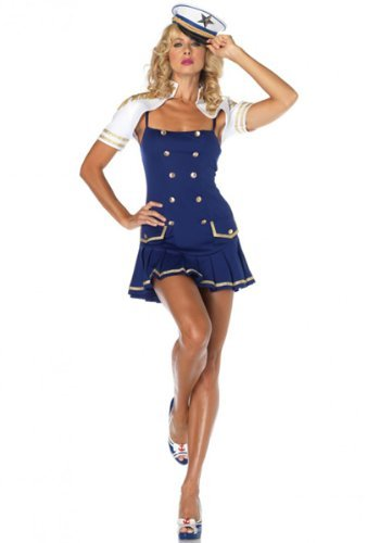 Leg Avenue 83763 - Ship Shape Captain Kostüm, Größe M/L, (Kostüme Captain Sexy)