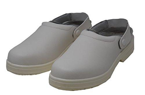 Emanhu Trading Antistatische Anti-Rutsch Stahlkappe Sicherheits-Schuhe SB Arbeitsschueh Clogs SB-E-A EN ISO 20345:2011 (39)