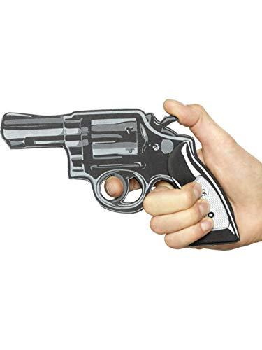 Fancy Ole - Kostüm Accessoires Zubehör Kleiner Herren Männer Fake Revolver Pistole, perfekt für Karneval, Fasching und Fastnacht, Schwarz (Gangster Revolver)