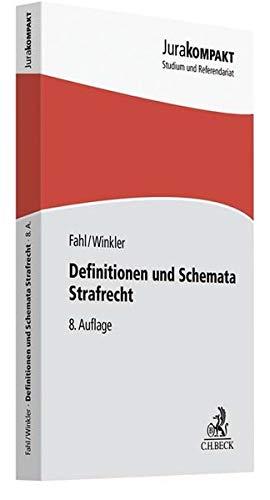Preisvergleich Produktbild Definitionen und Schemata Strafrecht (Jura kompakt)