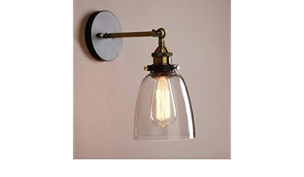 Unimall retro edison lampada da parete applique industrial steampunk