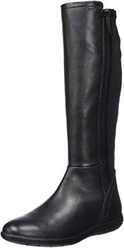 Geox Damen D Lenilla B Kurzschaft Stiefel, Schwarz (BLACKC9999), 39 EU