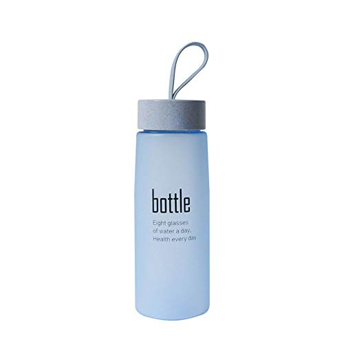 NEEKY Trinkflasche Sportflasche Fahrrad Outdoor Fitness Wasserflaschen - Plastik Sportpeeling Leck Proof Meine Flasche Tragbare Mode Trinken 520ml