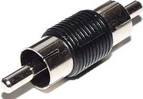 E + P GS 91CINCH RCA Black Cable Interface/Gender Adapter–Cable Interface/Gender Adapter (RCA, RCA, Male/Male, Black)