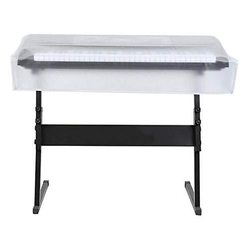 HEIRAO 61-Tasten-Klaviertastaturabdeckung, wasserdicht mattierte transparente Schutzhülle für elektronisches Klavier - Zustand Kordelzug