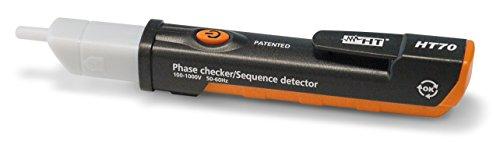HT-Instruments Berührungsloser Spannungsprüfer bis 1000 V AC mit Drehfeldrichtungsermittlung, HT70