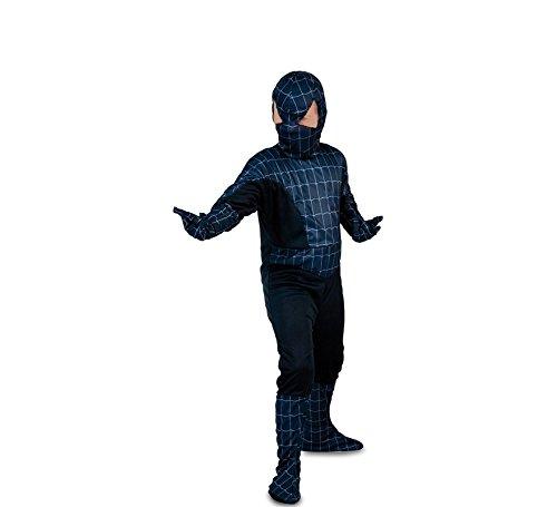 Fyasa 853425-t02Spider Hero Kostüm, schwarz, ()