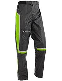 Kawasaki Lluvia Pantalones 222spm0017 – 022 – de motocicleta de jank chiste negro negro-verde 2XL