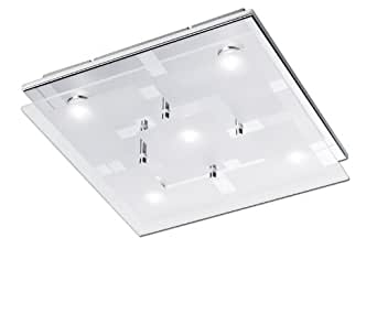 Paul Neuhaus 6105-17 Plafonnier LED 4,8 W Chrome 30 x 30 x 7 cm