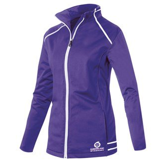 Sunderland Damen Annapurna Bonded Fleece Golf Jacke Gr. L, Violett - Purple/white