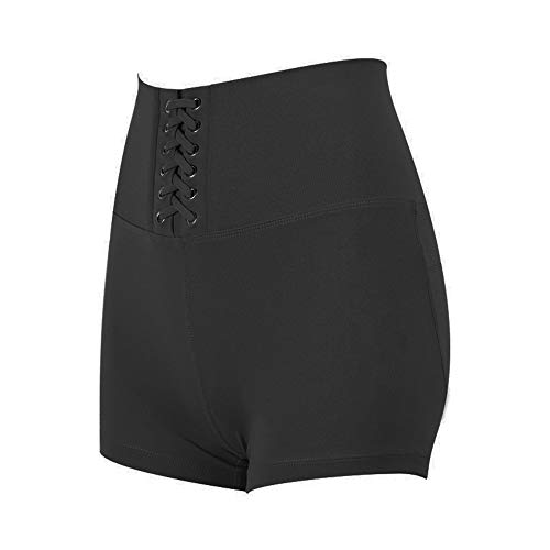 WFDDSD Shorts Active Stretch Yoga Shorts für Damen Yoga Shorts für Damen Hose mit hoher Taille und durchsichtiger Fitness-Strumpfhose Grau M (Für Jungen Strumpfhose Graue)