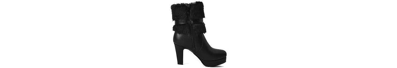 RTRY Zapatos De Mujer Polipiel Moda Invierno Botas Botas Chunky Talón Puntera Redonda Botines/Botines Bowknot... -