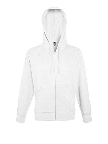 Fruit of the Loom Herren Kapuzenpullover Lightweight Hooded Sweat Jacket White