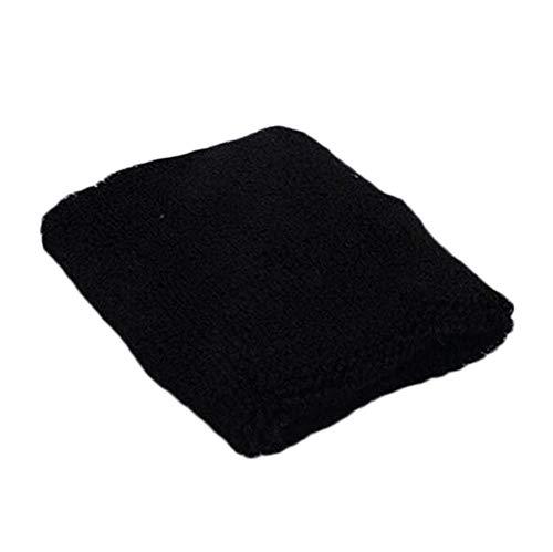 Wraps Schweiß Armband Schweißband für Sport Gym Training Fitness Größe 8 * 8 cm schwarz nützlich und praktisch Carry Stone ()