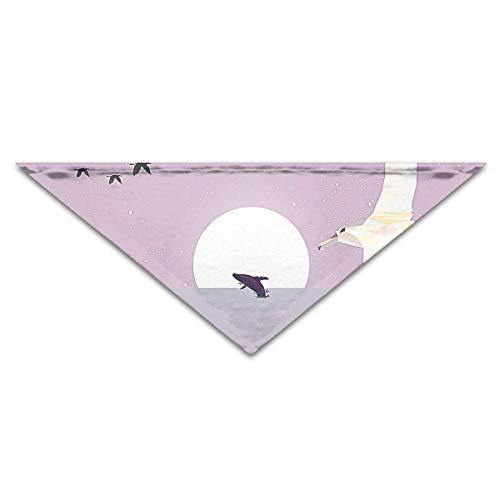 Albatross Flying Across The Sea in Low Poly Style Pet Dog Cat Puppy Bandana Triangle Head Scarfs Accessories -