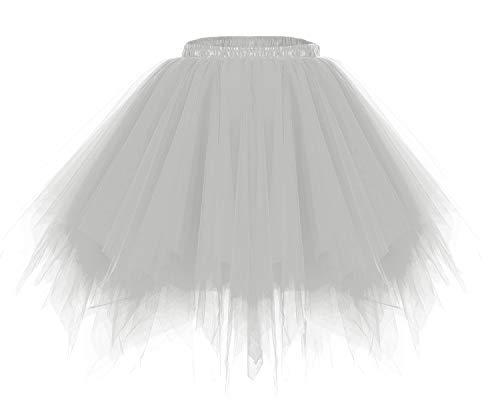 bridesmay Tutu Damenrock Tüllrock 50er Kurz Ballet Tanzkleid Unterkleid Cosplay Crinoline Petticoat...