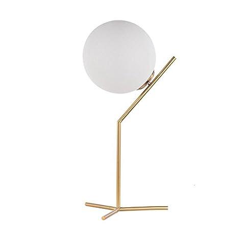 Nordisch Einfach Postmodern Kugelglas LED Tischleuchte Kreativ Mode Schreibtischlampen Persönlichkeit Leselicht Warmes Schlafzimmer Dekoration Nachttisch Nacht Lichter
